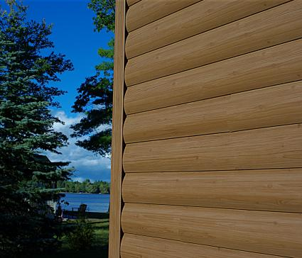 vinyl log siding prices images cabin home depot forest brown profile pic up close lake background