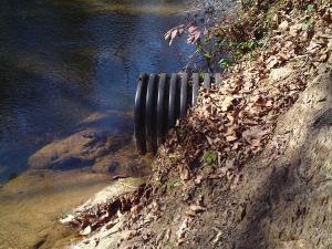 corrugated drain