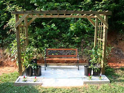 bench pergola
