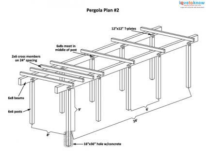 path pergola plan