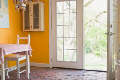 French doors to outside