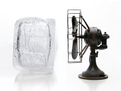 Ice and fan