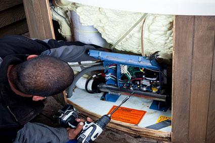 wiring a spa