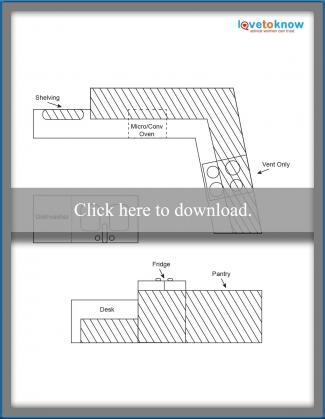 Kitchen Layout Idea 2- Central Sink