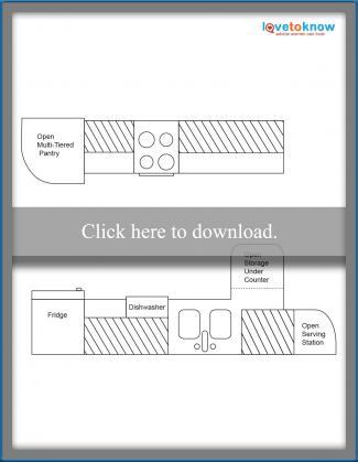 Kitchen Layout Idea 1 - Thin and Long