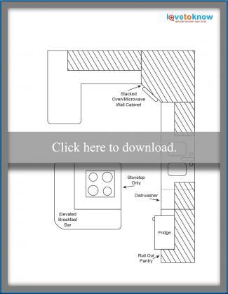Kitchen Layout Idea 3 - Open showy design