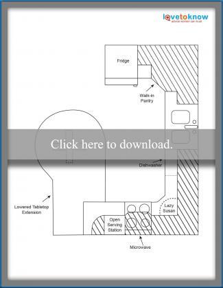 Kitchen Layout Idea 6 - Kid friendly layout