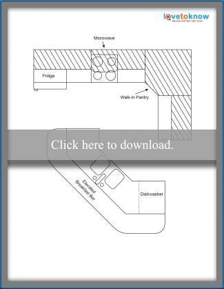 Kitchen Layout Idea 4 - Walk through layout