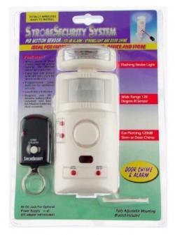 UniquExceptional MA795DC Strobe Motion Activated Alarm and Door Chime