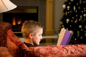 Boy and Fireplace
