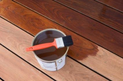 Deck stain supplies