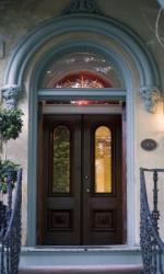 glass exterior door