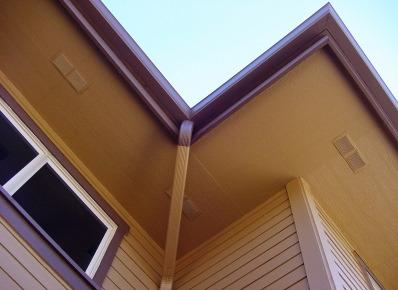 Wood Soffit with Vents