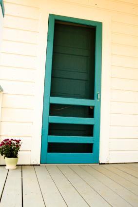 Traditional Wood Screen Door