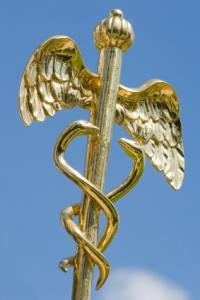 The caduceus of Hermes