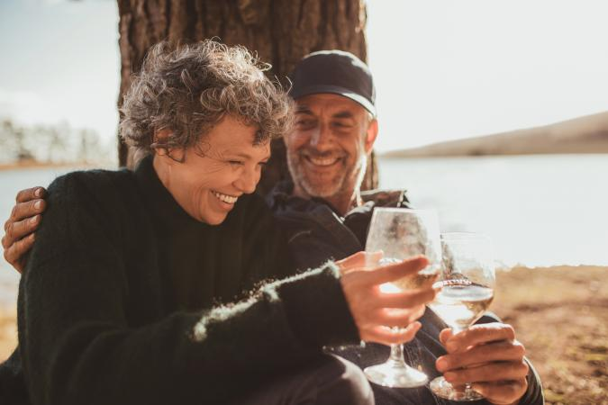 Relaxed mature couple