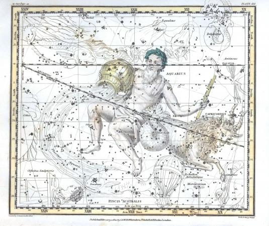 Vintage constellation map
