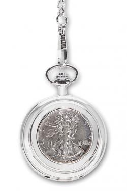 The Year Of Your Birth Half Dollar Pocket Watch