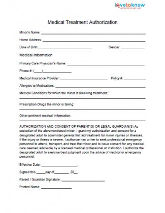Parent Release Form Parental Consent And Media Release Form