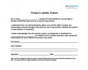 Free liability release forms for Waiver of liability template uk