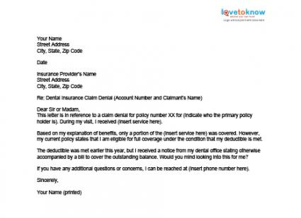 Image Gallery Health Insurance Coverage Letter