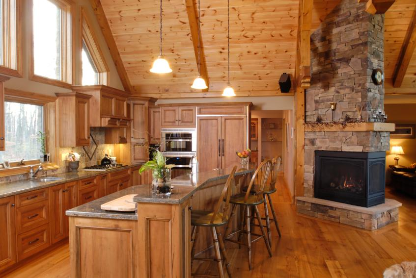 Rustic Wood Kitchen colonial kitchen pictures