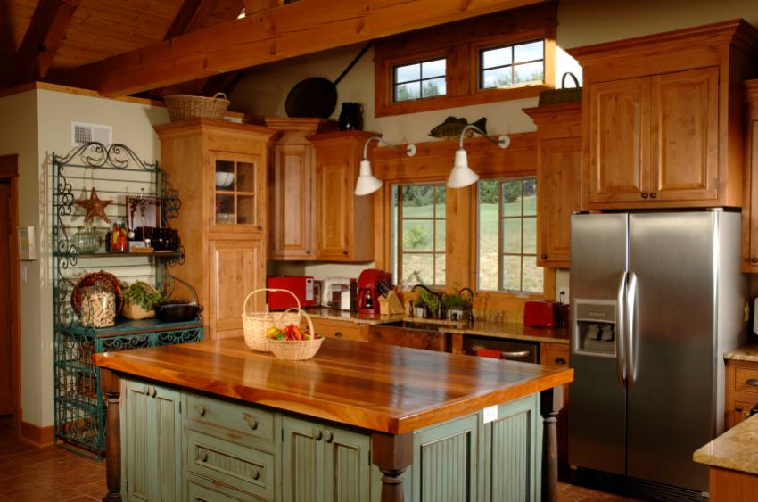 Colonial kitchen pictures slideshow for Country kitchen designs