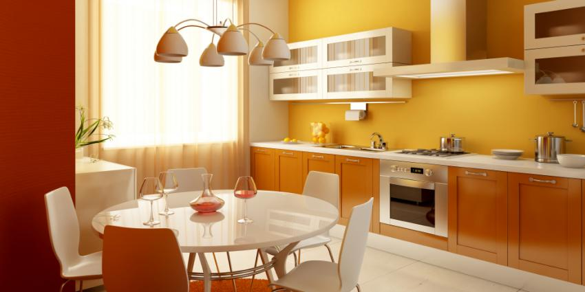Interior paint color combinations slideshow for Kitchen interior colour