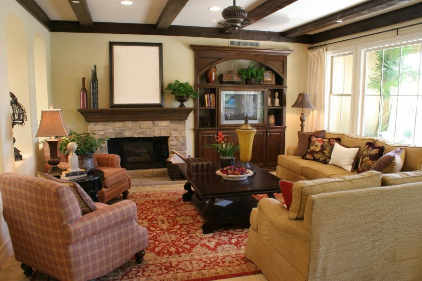 Country Manor Living Room Decor