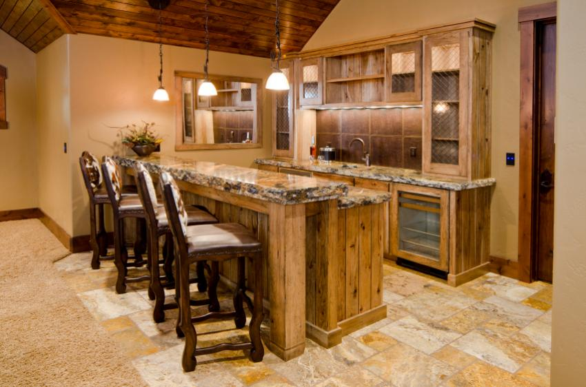 rustic bar - Basement Bar Design Ideas