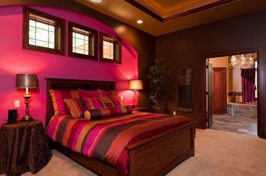 Pictures of bright wall colors slideshow for Red and gold bedroom designs