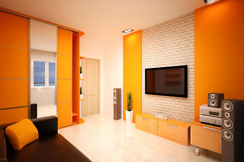 Pictures of bright wall colors slideshow - Orange walls living room ...