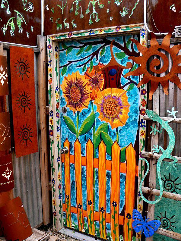 Cool ways to paint doors slideshow for Cool door ideas