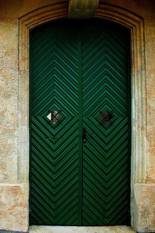 1920s green design & Cool Ways to Paint Doors Pezcame.Com