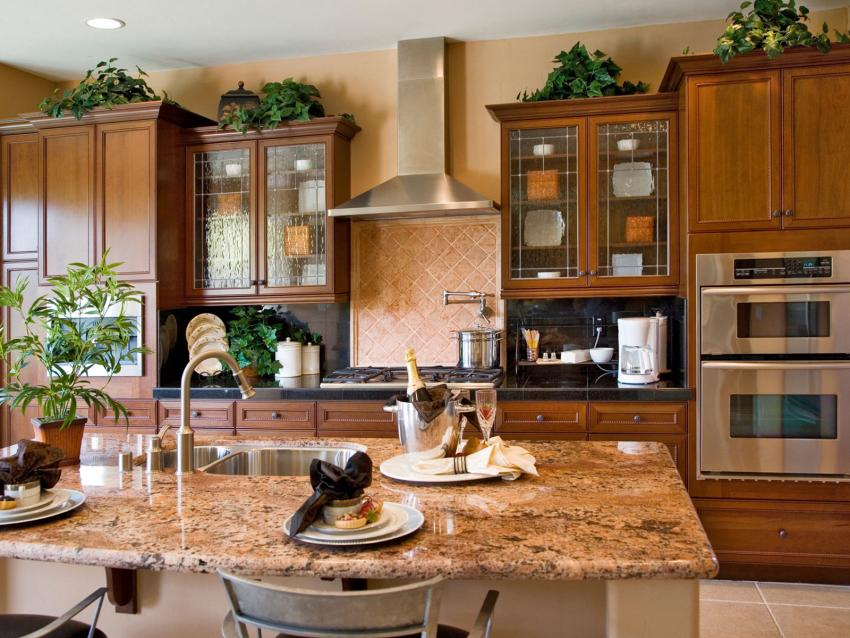 Above Kitchen Cabinets Decorating Above Kitchen Cabinets Tuscan Style
