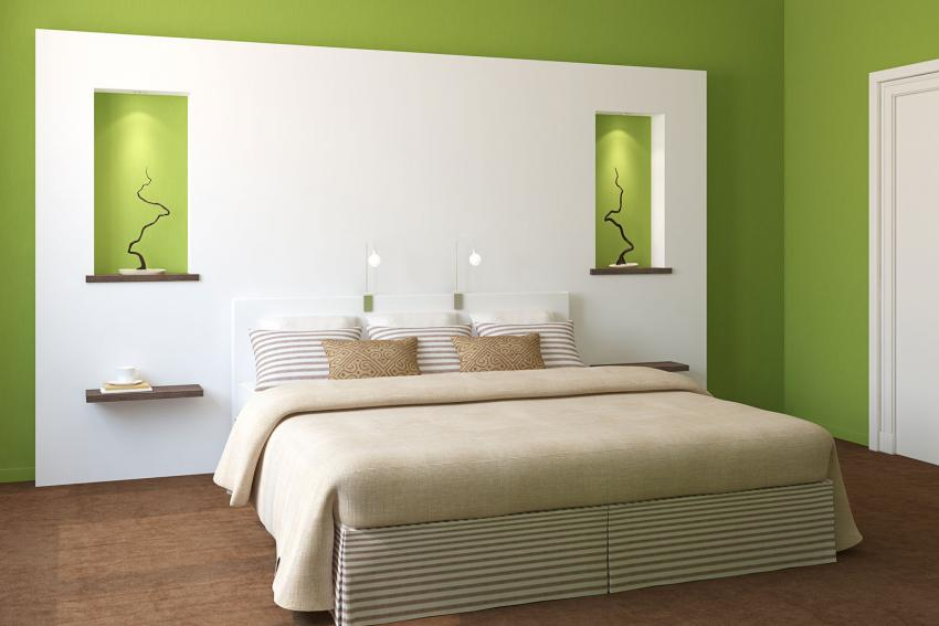 Green and White Bedroom. Interior Paint Color Combinations  Slideshow