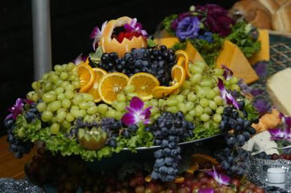 elegant fresh fruit centerpiece