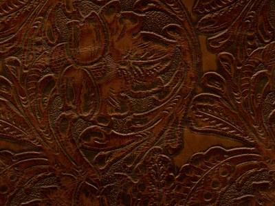 tooled leather texture found on western style bath accessories