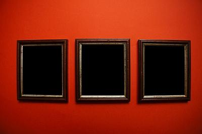 grouping of wall art frames