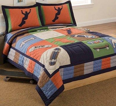 cool skate quilt set - Skater Bedroom Ideas