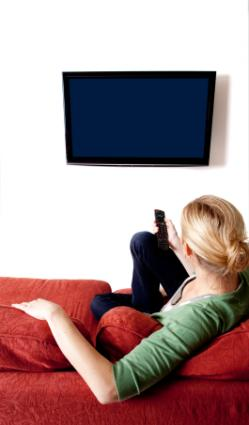 flat screen TV mounted on the wall