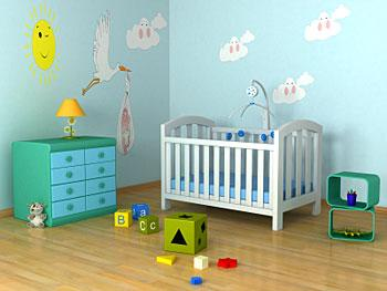 where to find baby room wall decals