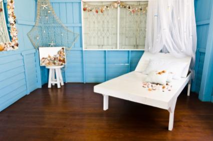 blue beach bedroom - Beachy Decor