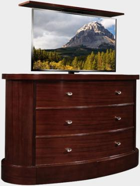 Fitch Mahogany TV Lift Cabinet by Cabinet Tronix