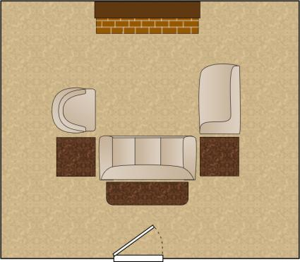 living room arrangement u shaped grouping