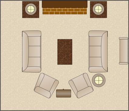 symmetrical living room arrangement