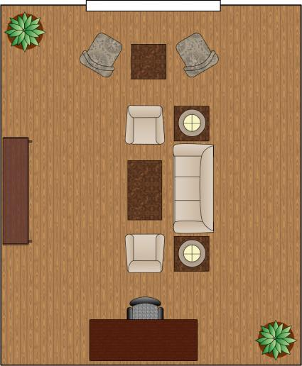 living room arrangement divided
