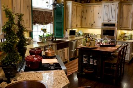 Copper sinks and kitchen shutters