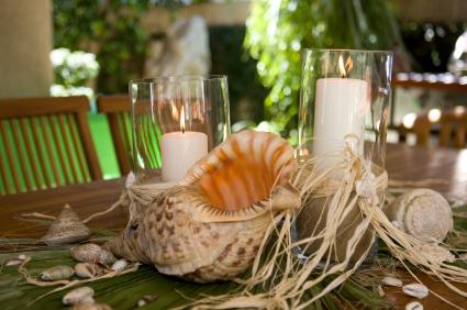 Ocean theme table setting