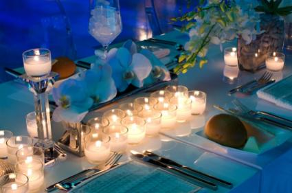 Candlescape table setting